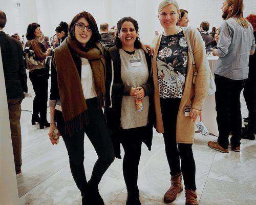 """Plan W und CoWomen Mitarbeiterinnen bei dem Fachkongress """"Die medizinische Versorgung von Gewaltopfern in Baden-Württemberg"""" in Stuttgart."""